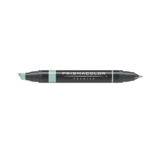 Prismacolor® Premier Art Marker Celadon Green: Green, Double-Ended, Alcohol-Based, Dye-Based, Extra Broad Nib, Fine Nib