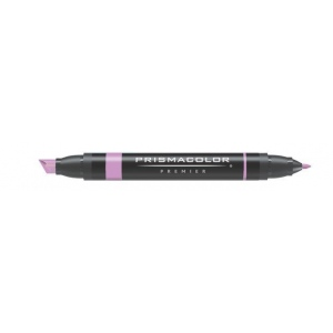 Prismacolor® Premier Art Marker Clay Rose: Red/Pink, Double-Ended, Alcohol-Based, Dye-Based, Extra Broad Nib, Fine Nib