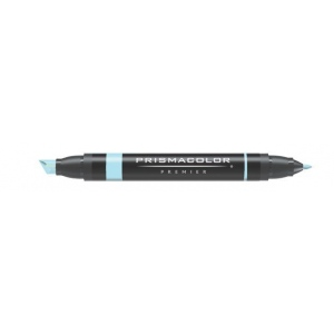 Prismacolor® Premier Art Marker Deco Blue: Blue, Double-Ended, Alcohol-Based, Dye-Based, Extra Broad Nib, Fine Nib, (model PM134), price per each