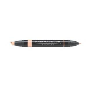 Prismacolor® Premier Art Marker Salmon Pink: Red/Pink, Double-Ended, Alcohol-Based, Dye-Based, Extra Broad Nib, Fine Nib, (model PM122), price per each