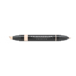 Prismacolor® Premier Art Marker Light Peach: Red/Pink, Double-Ended, Alcohol-Based, Dye-Based, Extra Broad Nib, Fine Nib