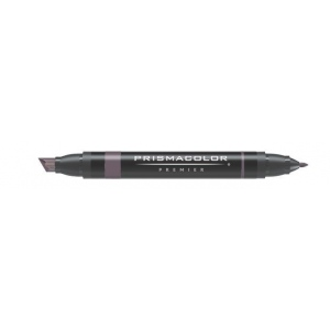 Prismacolor® Premier Art Marker Warm Gray 80%: Black/Gray, Double-Ended, Alcohol-Based, Dye-Based, Extra Broad Nib, Fine Nib, (model PM106), price per each