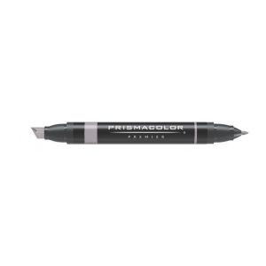 Prismacolor® Premier Art Marker Warm Gray 60%: Black/Gray, Double-Ended, Alcohol-Based, Dye-Based, Extra Broad Nib, Fine Nib, (model PM104), price per each