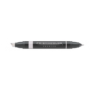 Prismacolor® Premier Art Marker Warm Gray 40%: Black/Gray, Double-Ended, Alcohol-Based, Dye-Based, Extra Broad Nib, Fine Nib, (model PM102), price per each