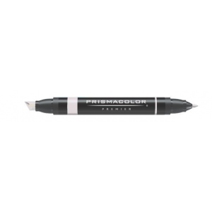 Prismacolor® Premier Art Marker Warm Gray 30%: Black/Gray, Double-Ended, Alcohol-Based, Dye-Based, Extra Broad Nib, Fine Nib