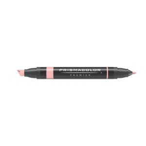 Prismacolor® Premier Art Marker Blush Pink: Red/Pink, Double-Ended, Alcohol-Based, Dye-Based, Extra Broad Nib, Fine Nib, (model PM10), price per each