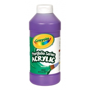 Crayola® Portfolio Series Acrylic Paint Violet: Purple, Bottle, 16 oz, Acrylic, (model BAS280), price per each