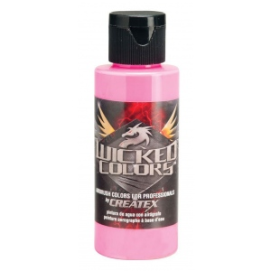 Wicked Colors™ Airbrush Paint 2oz Fluorescent Pink: Red/Pink, Bottle, 2 oz, Airbrush, (model W026-02), price per each
