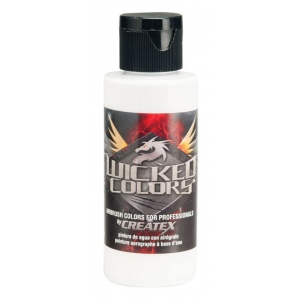Wicked Colors™ Airbrush Paint 8oz Detail White: White/Ivory, Bottle, 8 oz, Airbrush, (model W050-08), price per each