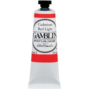 Gamblin Artists' Grade Oil Color 37ml Cadmium Red Deep: Red/Pink, Tube, 37 ml, Oil, (model G1160), price per tube