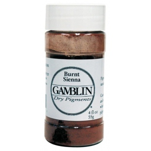 Gamblin Dry Pigment 51g Burnt Umber: Brown, Jar, 4 oz, (model G8080), price per each
