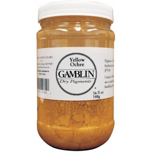 Gamblin Dry Pigment 310g Titanium Dioxide: Yellow, Jar, 4 oz, (model G9810), price per each