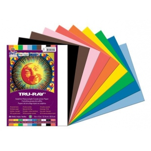 "Pacon® Tru-Ray® Construction Paper Assorted Colors 9"" x 12"": Assorted, Sheet, 50 Sheets, 9"" x 12"", (model PAC103031), price per 50 Sheets"