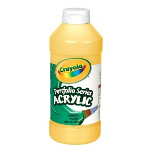 Crayola® Portfolio Series Acrylic Paint Turner's Yellow: Yellow, Bottle, 16 oz, Acrylic, (model BAS295), price per each
