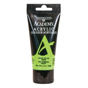 Grumbacher® Academy® Acrylic Paint 75ml Thalo Yellow Green: Green, Yellow, Tube, 75 ml, Acrylic