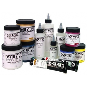 Golden® OPEN Acrylic Paint 2oz. Iridescent Gold (Fine): Metallic, Tube, 2 oz, 59 ml, Acrylic, (model 0007484-2), price per tube