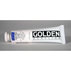 Golden® Heavy Body Acrylic 2 oz. Cobalt Blue: Blue, Tube, 2 oz, 59 ml, Acrylic, (model 0001140-2), price per tube
