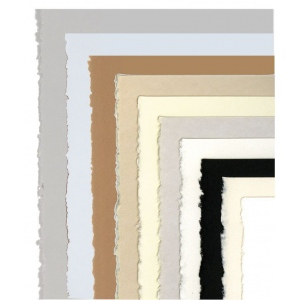 "Stonehenge® 22"" x 30"" Cream Versatile Artist Paper: White/Ivory, Sheet, Cotton, 22"" x 30"", 250 gsm, (model F05-403326), price per sheet"