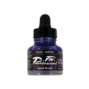 FW Pearlescent Liquid Acrylic Ink 1 oz. Dutch Blue: Blue, Bottle, Acrylic, 1 oz