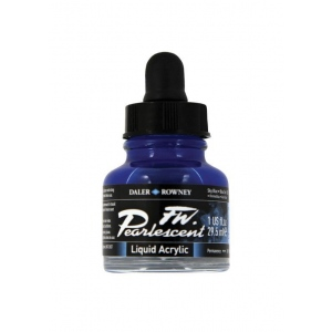 FW Pearlescent Liquid Acrylic Ink 1 oz. Sky Blue: Blue, Bottle, Acrylic, 1 oz