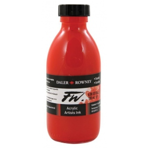 FW Liquid Artists' Acrylic Ink 6 oz. Scarlet: Red/Pink, Bottle, Acrylic, 6 oz, (model FW160180567), price per each
