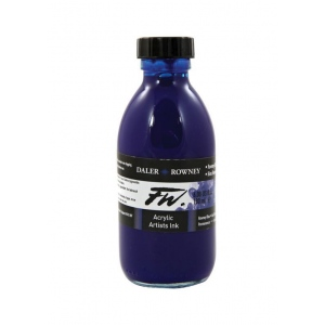 FW Liquid Artists' Acrylic Ink 6 oz. Rowney Blue: Blue, Bottle, Acrylic, 6 oz, (model FW160180119), price per each