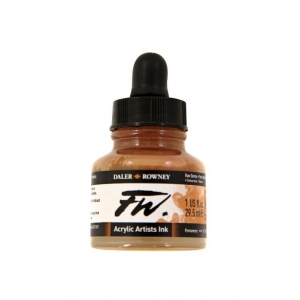 FW Liquid Artists' Acrylic Ink 1 oz. Raw Sienna: Brown, Bottle, Acrylic, 1 oz