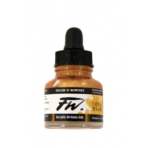 FW Liquid Artists' Acrylic Ink 1 oz. Gold: Metallic, Bottle, Acrylic, 1 oz, (model FW160029701), price per each