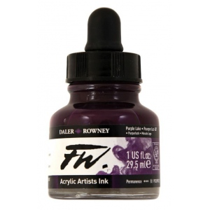 FW Liquid Artists' Acrylic Ink 1 oz. Purple Lake: Purple, Bottle, Acrylic, 1 oz, (model FW160029437), price per each
