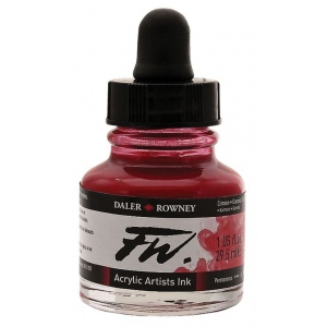FW Liquid Artists' Acrylic Ink 1 oz. Crimson: Red/Pink, Bottle, Acrylic, 1 oz, (model FW160029513), price per each
