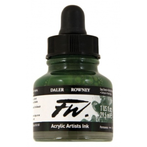 FW Liquid Artists' Acrylic Ink 1 oz. Sap Green: Green, Bottle, Acrylic, 1 oz, (model FW160029375), price per each