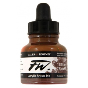 FW Liquid Artists' Acrylic Ink 1 oz. Burnt Umber: Brown, Bottle, Acrylic, 1 oz, (model FW160029223), price per each