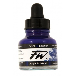 FW Liquid Artists' Acrylic Ink 1 oz. Rowney Blue: Blue, Bottle, Acrylic, 1 oz