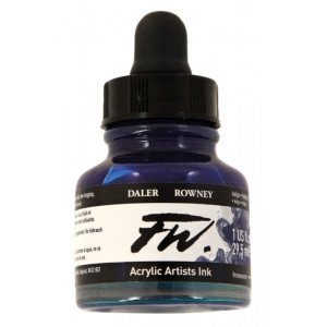 FW Liquid Artists' Acrylic Ink 1 oz. Indigo: Blue, Bottle, Acrylic, 1 oz, (model FW160029127), price per each