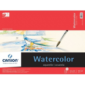 Canson® Foundation Series Watercolor Cold Press 15-Sheet Pad