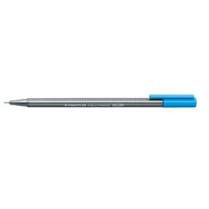 Staedtler® Triplus® Cyan Fineliner Pen : Blue, .3mm, Fine Nib, Technical, (model 334-37), price per each
