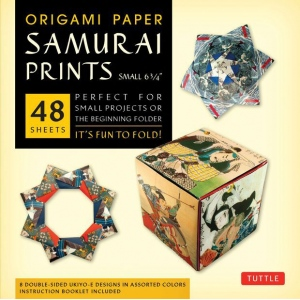 "Tuttle 6.75"" Origami Paper Samurai Patterns: Sheet, 6 3/4"", Origami, (model T843478), price per pack"