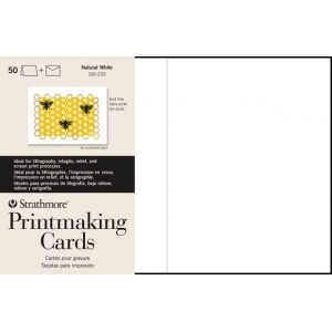 "Strathmore® Full Size Printmaking Cards 100-Pack: White/Ivory, Card, 100 Cards, 5"" x 6 7/8"", Medium, 280 g, (model ST105-633), price per 100 Cards"