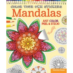 Design Originals - Color Your Own Stickers Mandalas Coloring Book