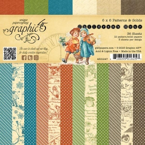 Graphic 45 - Children's Hour - 6x6 Patterns & Solids Pad