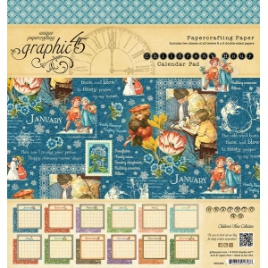 Graphic 45 - Children's Hour - 8x8 Calendar Pad