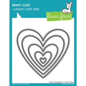 Lawn Fawn - Lawn Cuts - Heart Stackables Dies