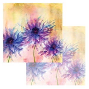 Ken Oliver - Watercolor Florals - Watercolor Asters 12x12 Paper