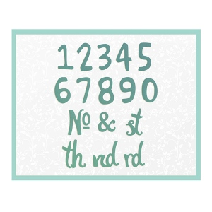 Couture Creations - Alpha Numeric - Whimsical Numbers Die