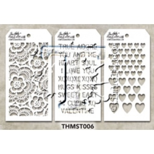 Stampers Anonymous - Tim Holtz - Stencil - Mini Stencil Set #6