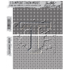 Stampers Anonymous - Tim Holtz - Tiles & Mosaic Stamps