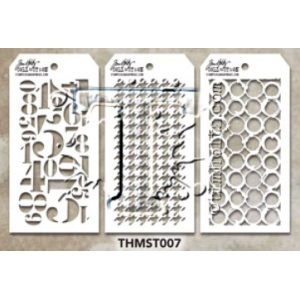 Stampers Anonymous - Tim Holtz - Stencil - Mini Stencil Set #7