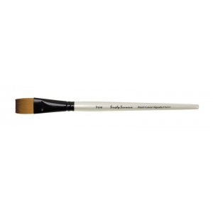 Daler-Rowney Simply Simmons Synthetic Acrylic/Multimedia Brush Flat Wash 3/4: Short Handle, Bristle, Flat Wash, Acrylic, Multimedia, (model SS255055075), price per each