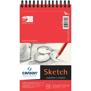 Canson® Foundation Series Wire Bound Sketch Pad