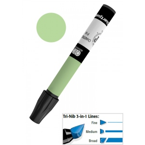 Chartpak® AD™ Art Marker Nile Green: Green, Xylene-Based, Tri-Nib, (model AP30), price per each
